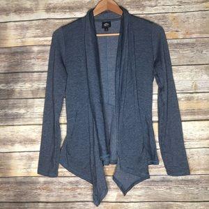 Bobeau soft waterfall cardigan jacket open front S